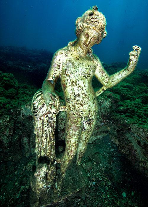 Statue de Nymphe submergée | © Centro Sub Campi Flegrei